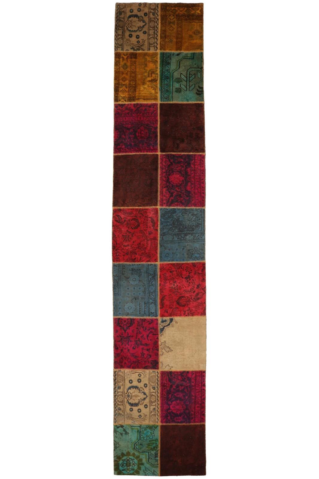 Persisk patchwork løber, 455 x 85 cm - Persisk patchwork løber, fremstillet af persiske vintage fragmenter. 455 x 85 cm