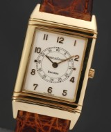 Jaeger-LeCoultre 'Reverso'. Men's watch, 18 kt. gold with reversible case