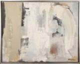 Ubekendt kunstner, 20. årh. Abstrakt komposition. Akryl på lærred