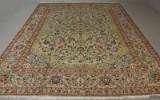 Persisk Kashan tæppe. Uld med bomuld. 400 x 305 cm.
