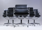 Charles Eames. A set of six Soft Pad lounge chairs, Model EA-208 (6)