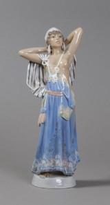 J.P. Dahl-Jensen. 'Araberpigen', figure, porcelain, no. 1129. Third quality