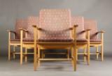 Børge Mogensen. Seks lænestole model 2257 (6)