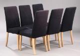 Moderne design. Seks spisestole. (6)