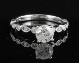 Ring in 18k with brilliant cut diamonds 1.10 ct
