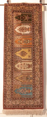 Teppich/ Carpet Saf Seide/ Silk signiert/signed 230 x 85 cm