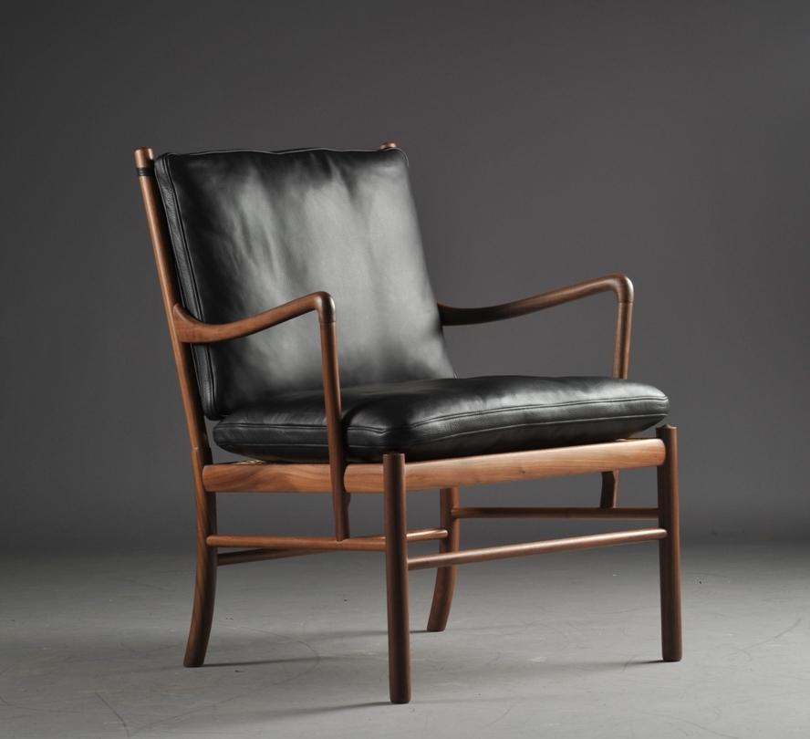 Ole Wanscher 1903 1985. Colonial Chair i valnød, model PJ
