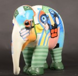 Leif Sylvester, 'Elephant Parade, A glimpse of humanity'