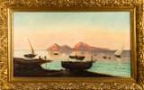 Friedrich II. Nerly, Gemälde, 'Neapolitanische Fischer vor Capri'