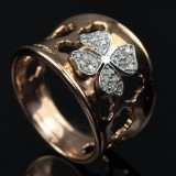 Italian design ring, approx. 0.20 ct.