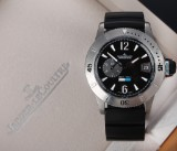 Jaeger-LeCoultre 'Master Compressor Diving GMT'. Substantial men's watch, titanium, c. 2014