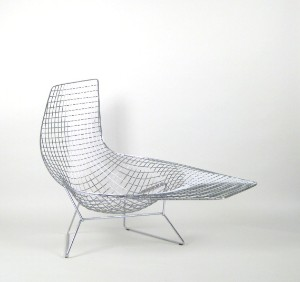 Harry Bertoia Wire Lounge Liege Modell Asymmetric Chaise Fur Knoll International