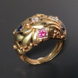 A ring with diamonds