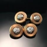 Dobbeltknapper med diamantbesætning (2)