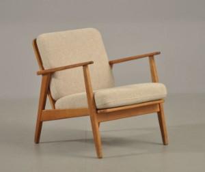 teak lænestol Lænestol af teak og eg, hynder med uld, 1960'erne | Lauritz.com teak lænestol