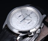 Jaeger-LeCoultre 'Master Control Chronograph'. Men's watch, steel, with silver-colorued dial, c. 2014