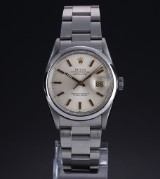 Rolex Datejust. Men's watch, steel with pale dial with date, c. 1987