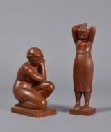 Kurt Harald Isenstein, udskåret træ, skulptur, kvinder (2)