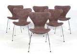 Arne Jacobsen 1902-1971. Sæt på seks stole model 3107 (6)