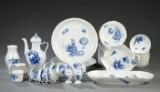 Klg. Porcelæn. Blå Blomst, kaffeservice (51)