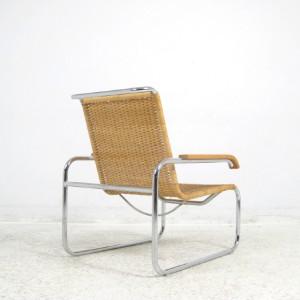 marcel breuer freischwinger sessel modell b 35 r von thonet. Black Bedroom Furniture Sets. Home Design Ideas