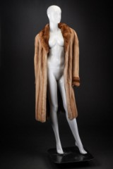 Palomino mink coat with sable, size 40 - 42, Saga Mink
