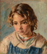 G.F. Clement / Gad Frederik Clement (1867-1933). Oil on canvas, portrait of a young girl