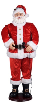 Elektrisk julemand 150 cm - med bevægelse og musik