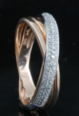 Diamond ring in 14kt approx. 0.16ct