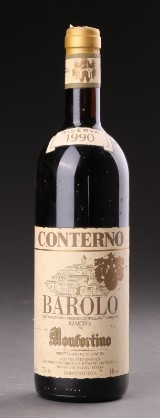 One bottle of Giacomo Conterno Barolo Monfortino Riserva 1990