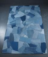 Matta, jeans patchwork, 150 x 240 cm.