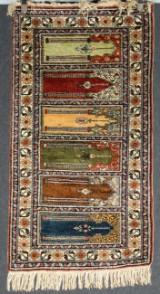 Anatolisk handknuten bönematta, Kayseri, old, 140 x 75 cm