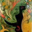 Nora Minora, Acryl auf Leinwand, 'Goldener Fisch'
