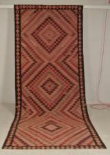 Orientalsk tæppe Kelim, Persien, ca. 400 x 170 cm
