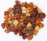 Danish amber, unpolished pieces, weight 751 g