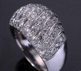 Diamond ring, 18 kt. white gold, total approx. 1.50 ct