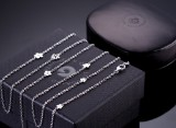 Ole Lynggaard. Lace necklace, 18 kt. white gold, brilliant-cut diamonds