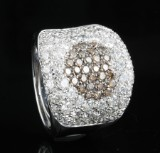 18kt diamond heart ring approx. 3.50ct