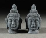 1 par skulpturer, Buddha, huvuden (2)