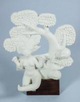 Stig Lindberg for Gustavsberg. Parian ware sculpture, 'Susanna i badet'