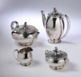 Evald Nielsen, kaffe/theservice af hammerslået sølv, anno 1943 (4)