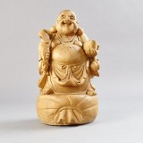 Buddha skuret trä