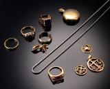 Samling vintage guldsmykker, samlet ca. 43,3 gr (11)