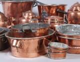 Samling föremål i koppar, 1800-tal (19)