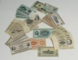 Danmark m.fl. Samling pengesedler, iblandt 100 kr 1965 (69)