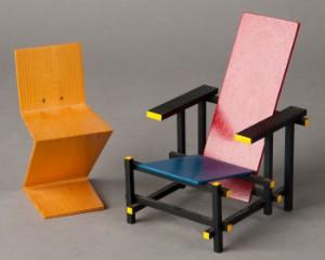 Ware 3148664 gerrit rietveld vitra miniatur rot blauer stuhl red blue chair zig zag chair - Rot blauer stuhl ...