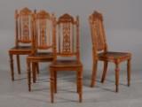 4 stole af eg, slut 1800-tallet. Nyrenæssance (4)