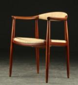 Hans J. Wegner. Armstol af teak 'The chair', Johannes Hansen