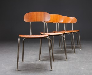 dansk m bel producent 4 stabel stole i teak 4. Black Bedroom Furniture Sets. Home Design Ideas