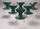 Arne Jacobsen. Six Lily dining chairs, model 3108 (6)